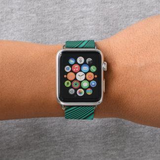 Correa Para Apple Watch Negro y ondas del trullo