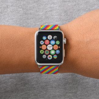 Correa Para Apple Watch Orgullo de los pixeles LGBT del arco iris