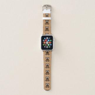 Correa Para Apple Watch Oso marrón fresco lindo con el modelo de las gafas