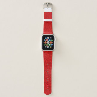 Correa Para Apple Watch Paisley roja