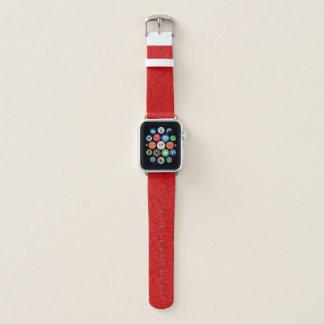 Correa Para Apple Watch Paisley roja