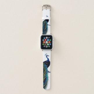 Correa Para Apple Watch Pájaro real colorido elegante azul del pavo real