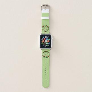 Correa Para Apple Watch Pentáculo de vides y de rosas rojos