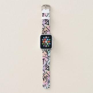 Correa Para Apple Watch Pinceladas modernas abstractas de la acuarela de