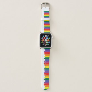 Correa Para Apple Watch Pintura del arco iris del orgullo gay