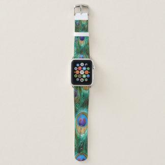 Correa Para Apple Watch Plumas del pavo real del verde azul