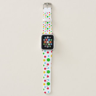 Correa Para Apple Watch Polkadot amarillo y rojo verde