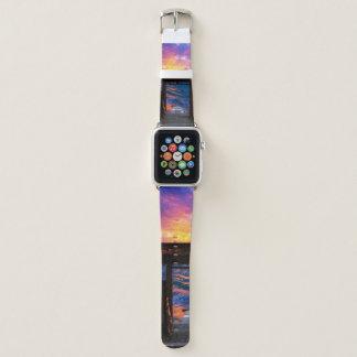 Correa Para Apple Watch Puesta del sol en la bahía del paraíso