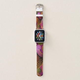 Correa Para Apple Watch Púrpura de Paisley