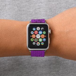 Correa Para Apple Watch Púrpura del reptil