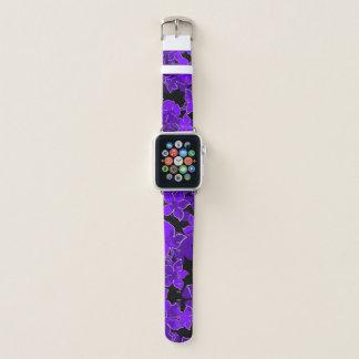 Correa Para Apple Watch Púrpura floral de Camo del hibisco hawaiano de
