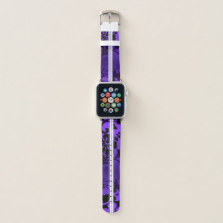 Correa Para Apple Watch Púrpura hawaiana de la tabla hawaiana del hibisco
