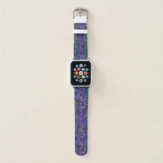 Correa Para Apple Watch Púrpura y mandala céltica del nudo del corazón de