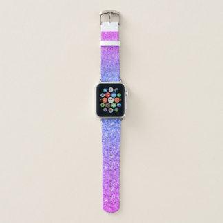 Correa Para Apple Watch Purpurina azul y rosado brillante de la pendiente