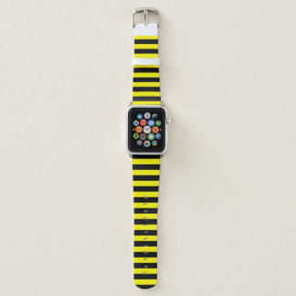 Correa Para Apple Watch Raya negra y amarilla