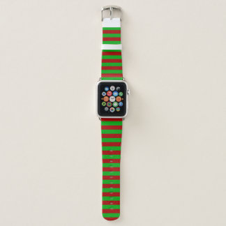 Correa Para Apple Watch Raya verde y roja