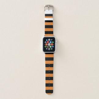 Correa Para Apple Watch Rayas negras en color de encargo
