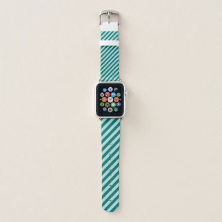 Correa Para Apple Watch Rayas verde azuladas