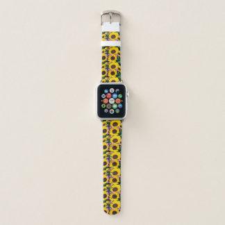 Correa Para Apple Watch reloj de moda de la flor del sol de las mujeres