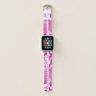 Correa Para Apple Watch Rosa hawaiano de la tabla hawaiana del hibisco de