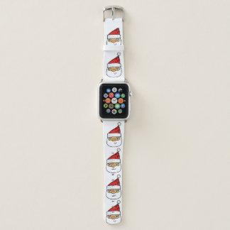 Correa Para Apple Watch Santa contemporáneo moderno en el navidad blanco