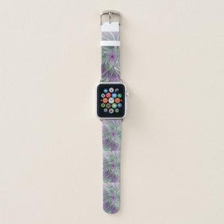 Correa Para Apple Watch Sueño de la flor, arte verde púrpura abstracto del