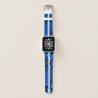 Correa Para Apple Watch Tabla hawaiana hawaiana del hibisco de la playa de