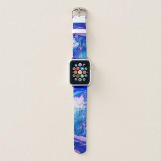 Correa Para Apple Watch Textura de mármol colorida de la acuarela moderna