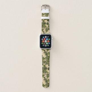 Correa Para Apple Watch Tropical hawaiano de Camo de la piña - de color