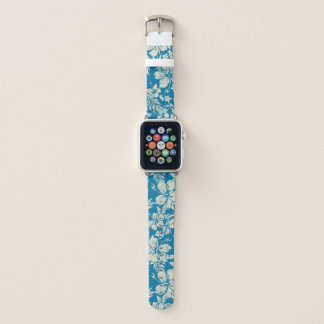 Correa Para Apple Watch Trullo floral hawaiano apenado Pareau del hibisco