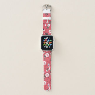Correa Para Apple Watch Trullo rosado de moda de Boho y estampado de