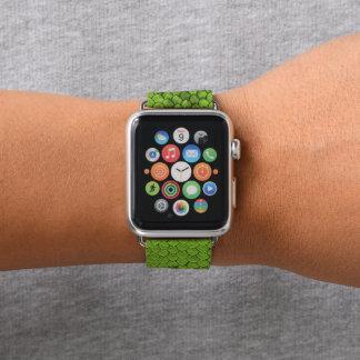 Correa Para Apple Watch Verde del reptil
