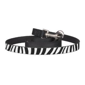 Correa Para Mascotas Modelo blanco y negro de las rayas del estampado