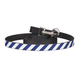 Correa Para Mascotas Modelo diagonal del azul marino y blanco de las