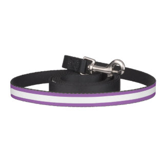 Correa Para Mascotas Modelo púrpura y blanco de la raya