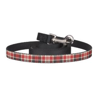 Correa Para Mascotas Modelo rojo y negro de la tela escocesa