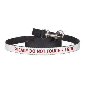 Correa Para Mascotas No toque por favor la advertencia de la mordedura
