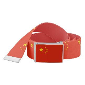 Correa patriótica con la bandera de China