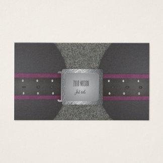 Correa púrpura y negra tarjeta de negocios