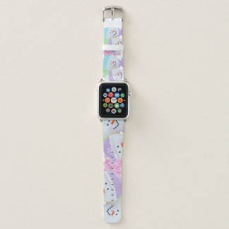 Correas de reloj en colores pastel de Apple de las