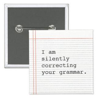 Corrección del botón de la gramática, papel de