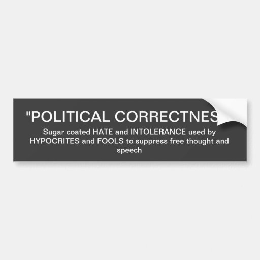 Corrección política pegatina de parachoque