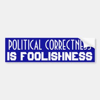 Corrección política etiqueta de parachoque