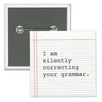 Correcting Grammar button, custom notebook paper