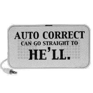 Correcto auto puede ir derecho él lo va a hacer notebook altavoces
