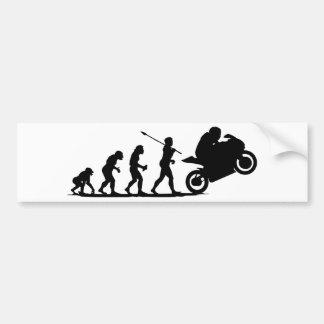 Corredor de la bici pegatina para coche