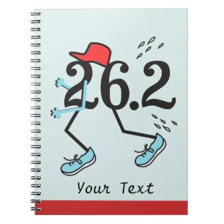 Corredor de maratón divertido 26,2 - regalos para libreta espiral