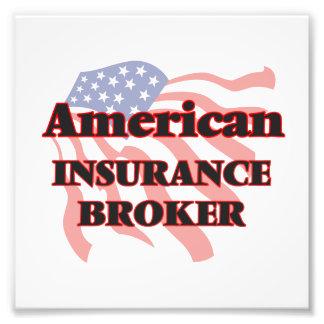 Corredor de seguros americano arte fotográfico