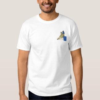 Corredor del barril camiseta bordada