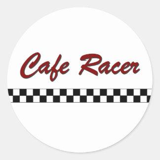 Corredor del café etiqueta redonda